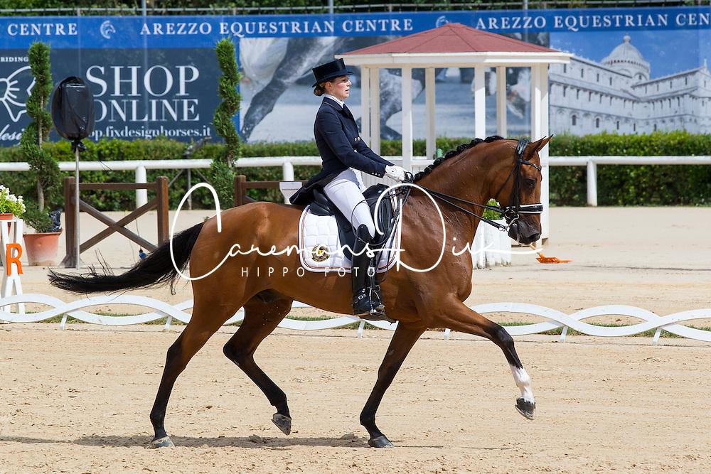 Fairchild Alexa (BEL) - Timor<br /> European Championships Dressage Junior and Young Riders 2014<br /> &copy; Hippo Foto - Leanjo de Koster
