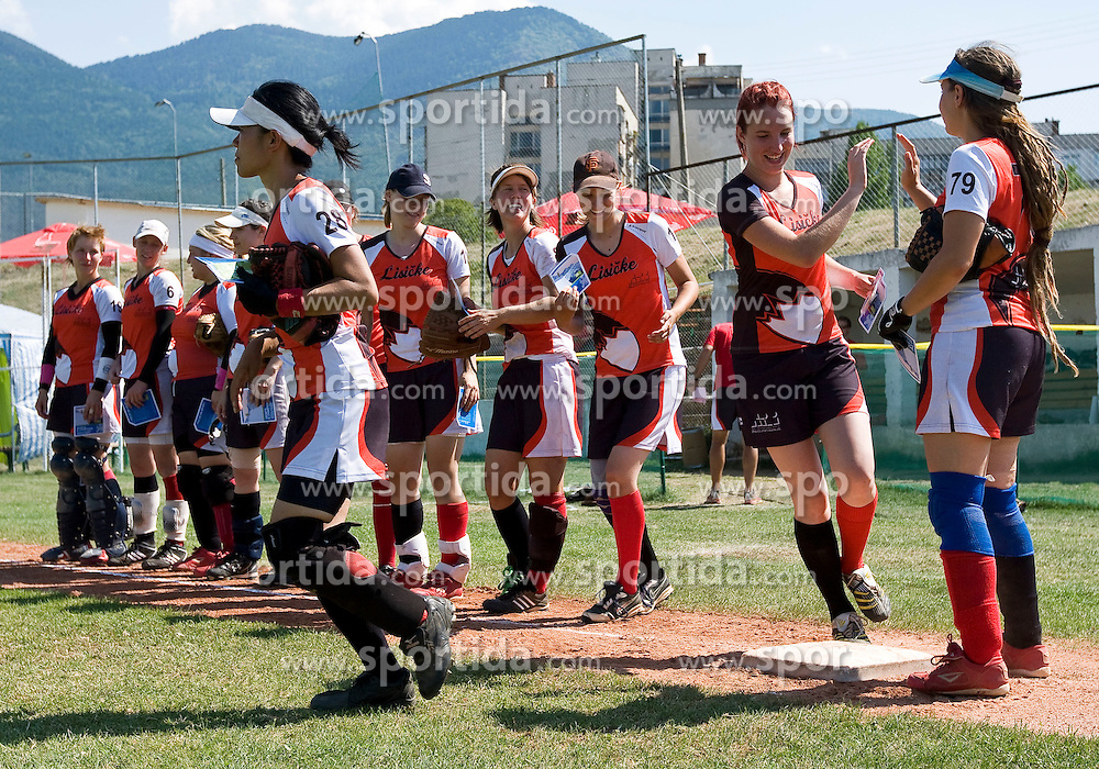 Slovenian softball fastpitch team Lisicke at European Cup women B, from August 15 - 20, 2011, in Dupnitsa, Bulgaria, (Photo by Grega Valancic / Sportida)