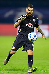 Paulo Machado #10 of GNK Dinamo Zagreb during football match between GNK Dinamo Zagreb and Olympiakos in Group F of Group Stage of UEFA Champions League 2015/16, on October 20, 2015 in Stadium Maksimir, Zagreb, Croatia. Photo by Urban Urbanc / Sportida