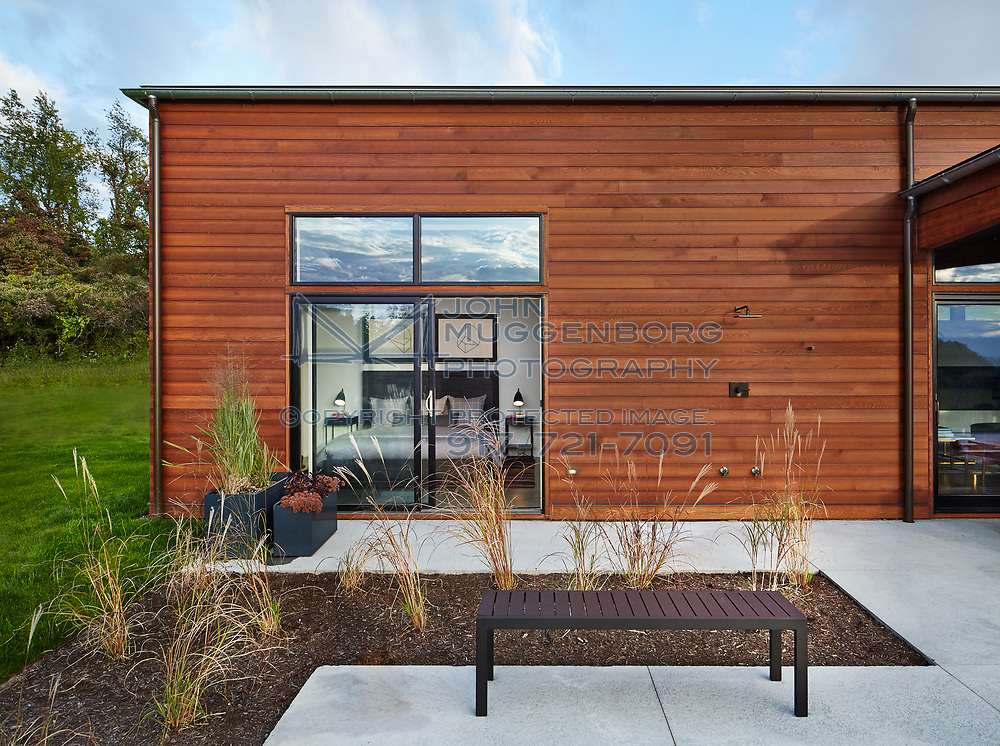 Part of Lindal Cedar Homes Architects' Collaborative Series, model 2230 is designed by Dowling Studios.<br />