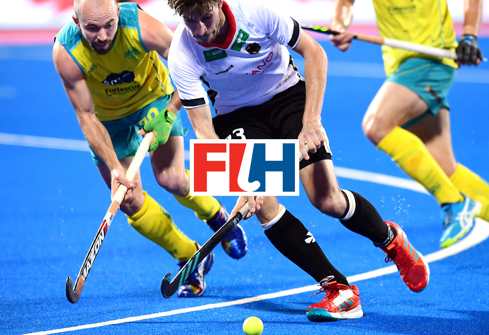 Odisha Men's Hockey World League Final Bhubaneswar 2017<br /> Match id:20<br /> Australia v Germany<br /> Foto: Florian Fuchs (Ger) and Matthew Swann (Aus) <br /> COPYRIGHT WORLDSPORTPICS FRANK UIJLENBROEK