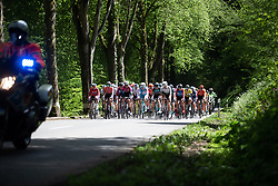 The peloton rides together on Stage 2 of 2019 Festival Elsy Jacobs, a 111.1 km road race starting and finishing in Garnich, Luxembourg on May 12, 2019. Photo by Balint Hamvas/velofocus.com