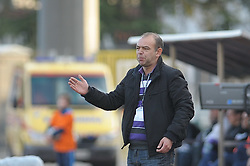 Darko Birjukov, main coach of Domzale at football match of 30th Round of 1st Slovenian League between NK Hit Gorica and Domzale, on April 10, 2010, in Sportni park, Nova Gorica, Slovenia. (Photo by Foto Forma/ Sportida)
