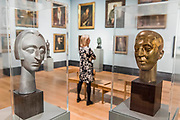 Dame Edith Sitwell, by Maurice Lambert, and Sir Osbert Sitwell, by Frank Dobson, and other works - The National Portrait Gallery, London opens brand new gallery spaces devoted to its early 20th Century Collection on 4 November 2017. The creation of these new spaces within the Gallery's free permanent Collection, has been made possible by a grant from the DCMS/ Wolfson Museums & Galleries Improvement Fund. London 03 Nov 2017.