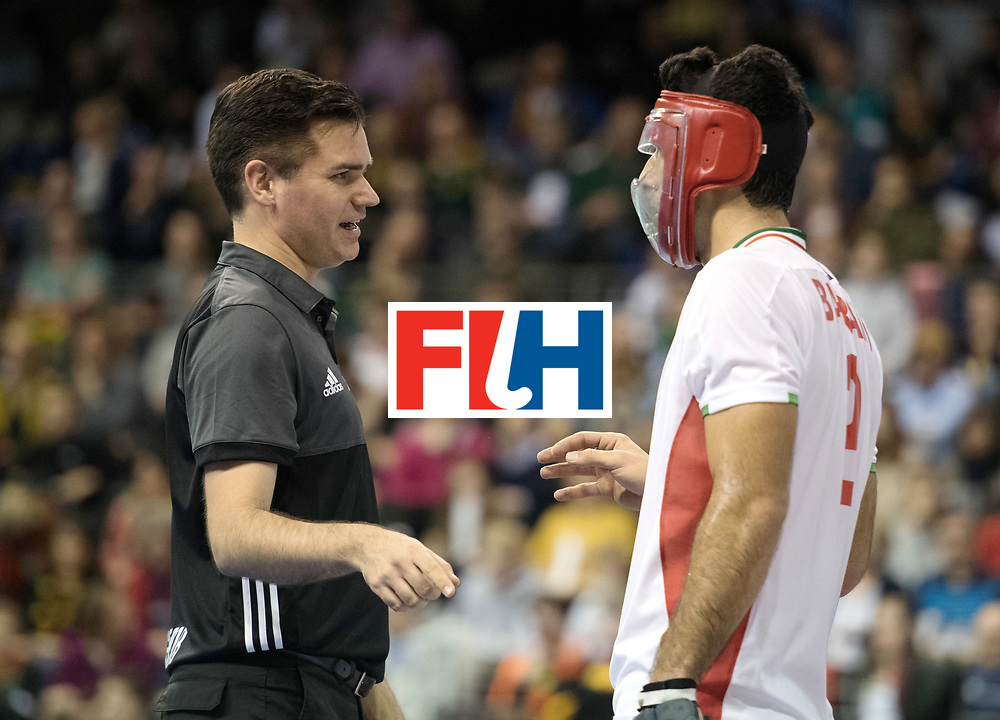 BERLIN - Indoor Hockey World Cup<br /> Bronze: Iran - Australia<br /> foto: Ben Goengten and Yaghoub Bahrami  <br /> WORLDSPORTPICS COPYRIGHT FRANK UIJLENBROEK