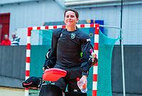 AMSTERDAM  - keeper Iris Nikerk (Adam) tijdens het starttoernooi zaalhockey in Sporthallen Zuid.    COPYRIGHT KOEN SUYK