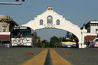 LODI, CA - JUNE 10:  Main Street on June 10, 2005 in Lodi California. Lodi, the sleepy Northern California town has been hit with controversy after 5 people were arrested by the FBI in connection with immigration and possible terrorist activities.  Photograph by David Paul Morris