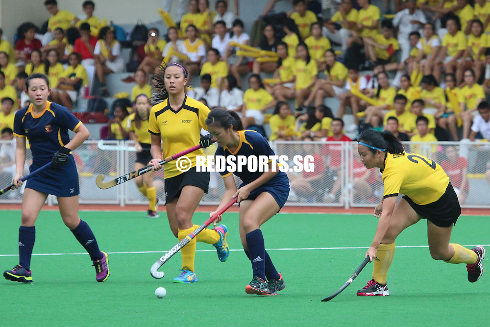 Sengkang Hockey Stadium, Wednesday, May 18, 2016 &mdash; Powerhouses Victoria Junior College (VJC) defeated Anglo-Chinese Junior College (ACJC) 5-0 to claim the National A Division Girls Hockey Championship trophy, making it their 14th title in a row.<br />