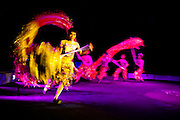 The Xin Chao Circus in central Ho Chi Minh City, Vietnam, resides in a shabby, often empty big top, yet nearly fifty perfomers erupt into the ring to provide a suprisingly well crafted and executed performance, based around two sisters, and national heroines of ancient Vietnam.