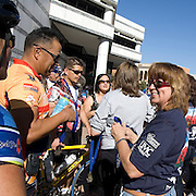 Riders receiving finisher medals at 2009 El Tour de Tucson. Bike-tography by Martha Retallick.