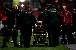 Junior Quitirna of Charlton Athletic leaves the field after picking up an injury - Mandatory by-line: Ryan Hiscott/JMP - 23/10/2019 - FOOTBALL - Ashton Gate - Bristol, England - Bristol City v Charlton Athletic - Sky Bet Championship