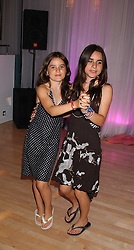 Jade Jagger's daughters daughters AMBA and ASSISI at party in aid of cancer charity Clic Sargent held at the Sanderson Hotel, Berners Street, London on 4th July 2005.<br />