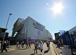 A general view as fans arrive at Goodison Park ahead of the Barclays Premier League match between Everton and Burnley - Photo mandatory by-line: Matt McNulty/JMP - Mobile: 07966 386802 - 18/04/2015 - SPORT - Football - Liverpool - Goodison Park - Everton v Burnley - Barclays Premier League
