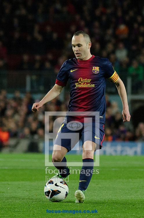 Picture by Cristian Trujillo/Focus Images Ltd +34 64958 5571.06/04/2013.Andrés Iniesta of FC Barcelona  during the La Liga match at Camp Nou, Barcelona.