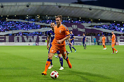 Andrew Halliday of FC Rangers during 2nd Leg football match between NK Maribor and Rangers FC in 3rd Qualifying Round of UEFA Europa League 2018/19, on August 16, 2018 in Stadion Ljudski vrt, Maribor, Slovenia. Photo by Urban Urbanc / Sportida