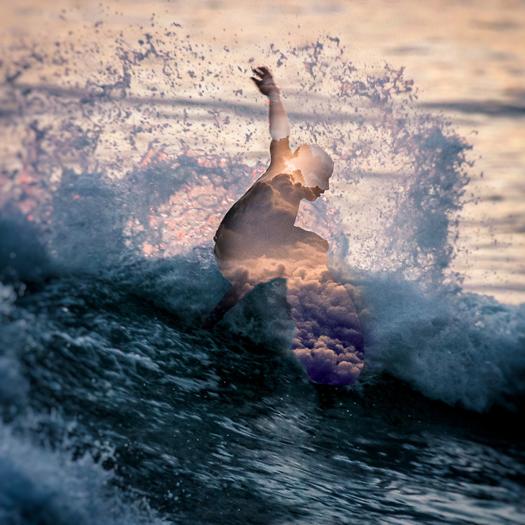 From the SEVAW Series capturing the energy of surfing with abstracted surf and ocean imagery. ©justinalexanderbartels.com