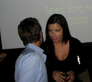 **EXCLUSIVE**.Brazilian Super Model Adriana Lima with her on and off boyfriend  Prince Wence of Lichtenstein.PM Lounge owner Unik's Karaoke Sunday Night .New York, NY, USA .Sunday, May, 13, 2007.Photo By Celebrityvibe.To license this image call (212) 410 5354 or;.Email: celebrityvibe@gmail.com; .