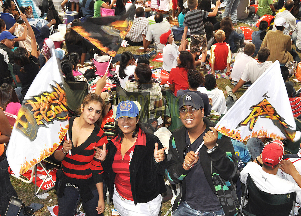 DURBAN, SOUTH AFRICA - 5 May 2009.Spectators  during the IPL Season 2 match between the Delhi daredevils and The Kolkata Knight Riders held at Sahara Stadium Kingsmead, Durban, South Africa..
