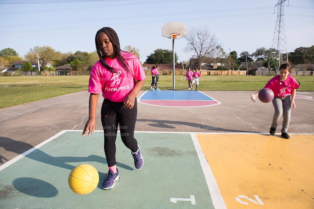 Playworks<br /> <br /> <br /> Cummings Elementary School<br /> 10455 S Kirkwood Rd, Houston, TX 77099<br /> <br /> Girls basketball practice