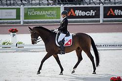 Nicole Geiger, (SUI), Ry de Lafayette CH - Team Competition Grade IV Para Dressage - Alltech FEI World Equestrian Games™ 2014 - Normandy, France.<br /> © Hippo Foto Team - Jon Stroud <br /> 25/06/14