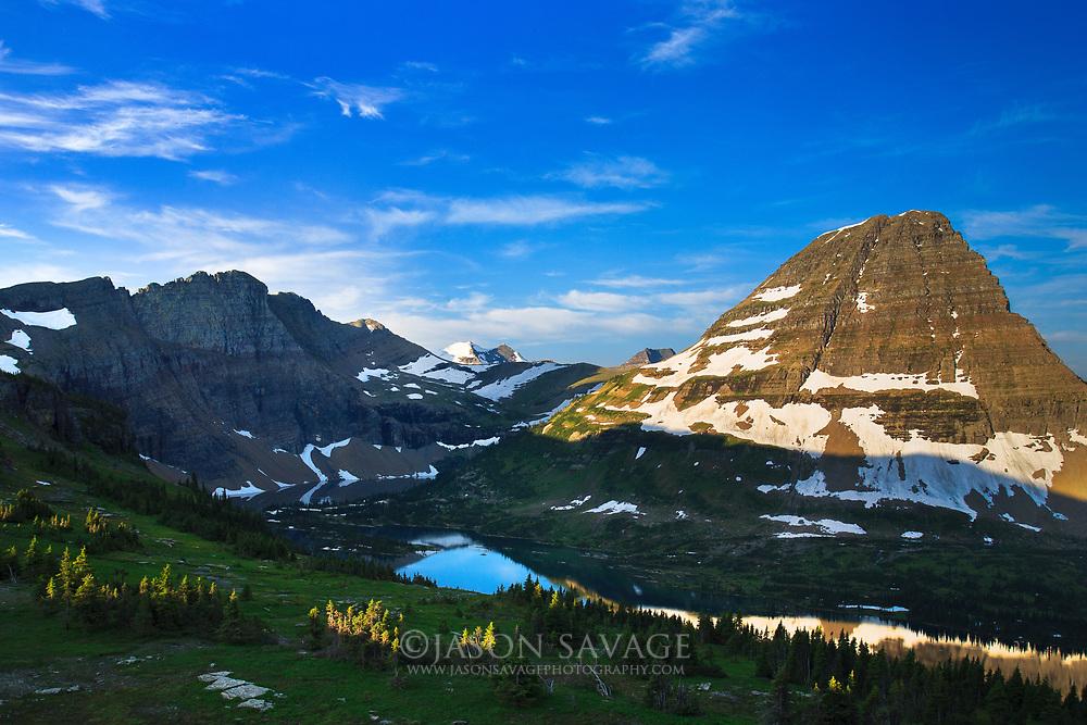 Reflections on Hidden Lake,Glacier National Park.