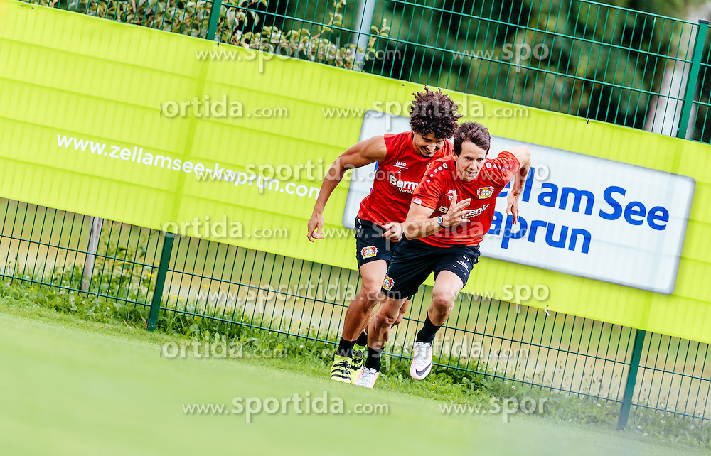 29.07.2016, Alois Latini Stadion, Zell am See, AUT, Bayer 04 Leverkusen, Trainingslager, im Bild Andre Ramalho (Bayer 04 Leverkusen), Robbie Kruse (Bayer 04 Leverkusen) // during the Trainingscamp of German Bundesliga Club Bayer 04 Leverkusen at the Alois Latini Stadium in Zell am See, Austria on 2016/07/29. EXPA Pictures © 2016, PhotoCredit: EXPA/ JFK