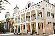 Historic homes on Meeting Street in Charleston, SC.