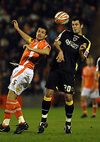 MATTHEW POVER PICTURE                                                +447971 184305<br /> <br /> 11/12/07 .... Blackpool v Cardiff<br /> Blackpool's Michael jackson and Cardiff's Steve Thompson.