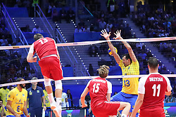 September 30, 2018 - Turin, Piedmont, Italy - Michal Kubiak of Poland in action during the final match between Brazil and Poland for the FIVB Men's World Championship 2018 at Pala Alpitour in Turin, Italy, on 30 September 2018. Poland won 3: 0 and it is confirmed world champion. (Credit Image: © Massimiliano Ferraro/NurPhoto/ZUMA Press)