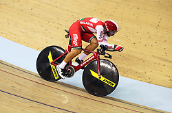 Belarus' Yauheni Akhramenka in the men's 4000m individual pursuit qualifying during day four of the 2018 European Championships at the Sir Chris Hoy Velodrome, Glasgow. PRESS ASSOCIATION Photo. Picture date: Sunday August 5, 2018. See PA story CYCLING European. Photo credit should read: John Walton/PA Wire. RESTRICTIONS: Editorial use only, no commercial use without prior permission