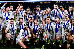 England Women celebrate winning the Women's Six Nations and Grand Slam - Mandatory by-line: Robbie Stephenson/JMP - 16/03/2019 - RUGBY - Twickenham Stadium - London, England - England Women v Scotland Women - Women's Six Nations