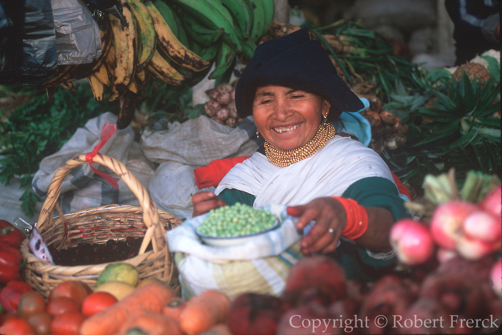 ECUADOR, MARKETS Otavalo produce and crafts market