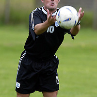 St Johnstone training...12.07.04<br />David Hannah<br /><br />Picture by Graeme Hart.<br />Copyright Perthshire Picture Agency<br />Tel: 01738 623350  Mobile: 07990 594431