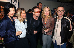 Left to right, ALI HEWSON, MAIA HIRST, BONO, KIM CATTRALL and DAMIEN HIRST at a party to launch the One T-Shirt by Edun held at Harvey Nichols, Knightsbridge, London on 18th October 2006.<br />