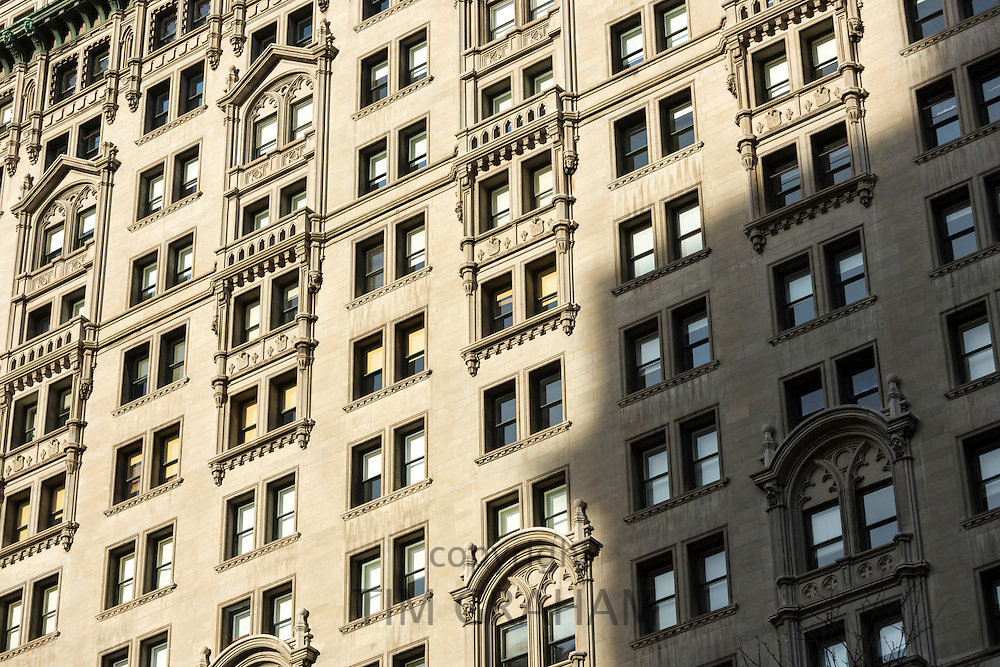 Traditional architecture of Trinity Building on Broadway in New York, USA