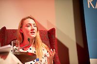 """14/07/2013  Saoirse Ronan  at the 25th Galway Film Fleadh at the Town Hall Theatre in Galway for """"An Afternoon with Saoirse Ronan hosted by Arena's Sean Rocks. Picture:Andrew Downes"""