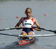 Poznan, POLAND.  2006, FISA, Rowing World cup, CZE W1X  Mirka KNAPKOVA, moves away from the start pontoon at the   'Malta Regatta course;  Poznan POLAND, Fri. 16.06.2006. © Peter Spurrier   ....[Mandatory Credit Peter Spurrier/ Intersport Images] Rowing Course:Malta Rowing Course, Poznan, POLAND