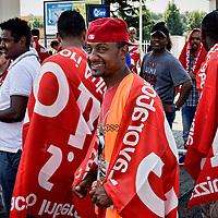 Protesta dei lavoratori dei magazzini Sda Roma