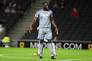 Lincoln City forward John Akinde (29) during the EFL Sky Bet League 1 match between Milton Keynes Dons and Lincoln City at stadium:mk, Milton Keynes, England on 20 August 2019.