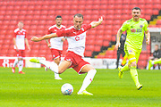Barnsley Cauley Woodrow (9) in action during the Pre-Season Friendly match between Barnsley and Sheffield United at Oakwell, Barnsley, England on 27 July 2019.