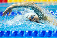 Ashgabat, Turkmenistan - 2017 September 24: Meichen Sun from People's Republic of China competes in Women's 200m Freestyle Final while Short Course Swimming competition during 2017 Ashgabat 5th Asian Indoor & Martial Arts Games at Aquatics Centre (AQC) at Ashgabat Olympic Complex on September 24, 2017 in Ashgabat, Turkmenistan.<br /> <br /> Photo by © Adam Nurkiewicz / Laurel Photo Services