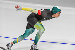 February 23, 2018 - Pyeongchang, Gangwon, South Korea - Daniel Greig of  Australia at 1000 meter speedskating at winter olympics, Gangneung South Korea on February 23, 2018. (Credit Image: © Ulrik Pedersen/NurPhoto via ZUMA Press)