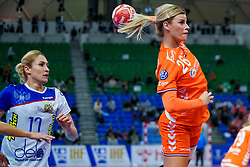 13-12-2019 JAP: Semi Final Netherlands - Russia, Kumamoto<br /> The Netherlands beat Russia in the semifinals 33-22 and qualify for the final on Sunday in Park Dome at 24th IHF Women's Handball World Championship / Angela Malestein #26 of Netherlands