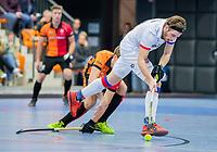 ROTTERDAM  - NK Zaalhockey,   halve finale heren Oranje Rood-SCHC (SCHC wint en plaatst zich voor de finale) . Bram  Weers (SCHC).   COPYRIGHT KOEN SUYK