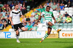 Yeovil Town's Gozie Ugwa scores from a chipped effort - Photo mandatory by-line: Dougie Allward/Josephmeredith.com  - Tel: Mobile:07966 386802 01/09/2012 - SPORT - FOOTBALL - League 1 -  Yeovil  - Huish Park -  Yeovil Town v Doncaster Rovers