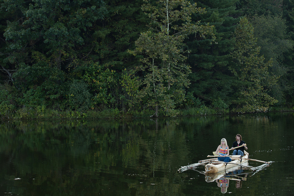 Canoeing at the Paw Paw Festival at lake Snowden in Albany, Ohio on September 14, 2013.