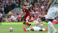 Football - 2017 / 2018 Premier League - Liverpool vs. Manchester United<br /> <br /> Philippe Coutinho of Liverpool Manchester United at Anfield.<br /> <br /> COLORSPORT/Joe Perch