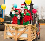 Santa arriving at Dermot Kehoes