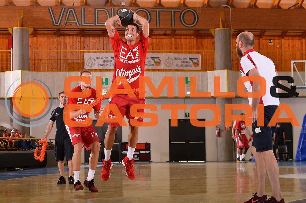 Andrea Cinciarini <br /> EA7 Emporio Armani Olimpia Milano allenamento<br /> Lega Basket Serie A 2016/2017<br /> Bormio 03/09/2016<br /> Foto Ciamillo-Castoria