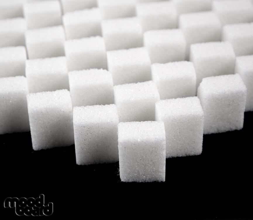 Studio shot of lump sugar
